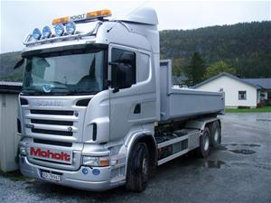 Scania med dumperkasse